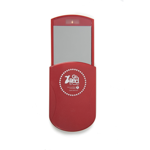 Go RED compact mirror